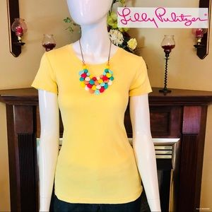 EUC - Lilly Pulitzer - Yellow Lexie Crew Cut Tee